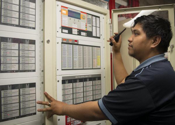 Man checking the controller