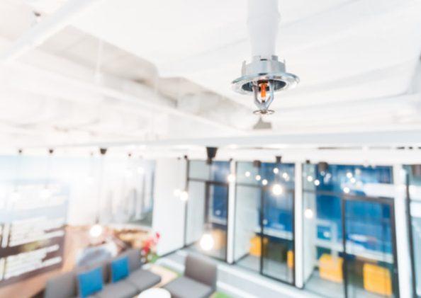 Room installed with sprinkler