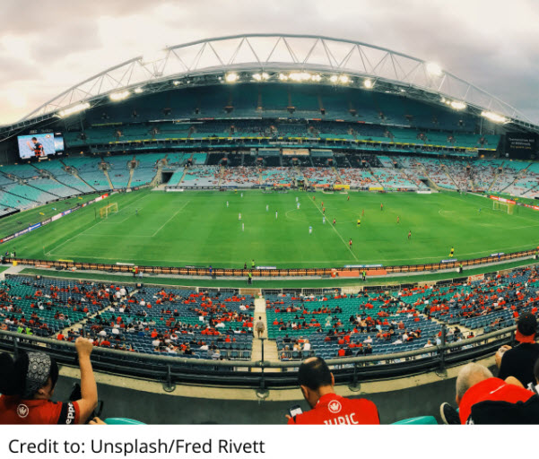 Big stadium with audience