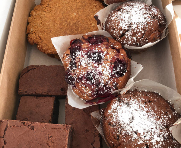 Different pastries in a box